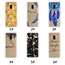 رخيصةأون حافظات / جرابات هواتف جالكسي A-غطاء من أجل Samsung Galaxy A6 (2018) / A6+ (2018) / Galaxy A7(2018) نموذج غطاء خلفي مأكولات / جملة / كلمة / الريش ناعم TPU