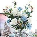 preiswerte Künstliche Blumen-Künstliche Blumen 3 Ast Klassisch Europäisch Pastoralen Stil Rosen Tisch-Blumen