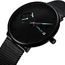 お買い得  メンズ腕時計-男性用 リストウォッチ クォーツ ステンレス ブラック 30 m カレンダー 新デザイン ハンズ カジュアル ファッション - レッド ブルー ローズゴールド 1年間 電池寿命 / SODA AG4