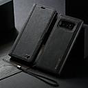 رخيصةأون إكسسوارات سامسونج-غطاء من أجل Samsung Galaxy Note 8 محفظة / مع حامل / قلب غطاء كامل للجسم لون سادة قاسي جلد PU