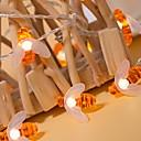 abordables Luces LED de Doble Pin-5 m Cuerdas de Luces 40 LED Blanco Cálido Decorativa 220-240 V 1 juego