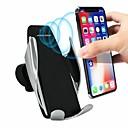 abordables Correas para Apple Watch-Qi soporte de cargador inalámbrico soporte de inducción automático inteligente soporte de teléfono de ventilación de aire del coche para iphone xs xr x max samsung s10 s9 s8 más