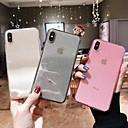 olcso iPhone tokok-Case Kompatibilitás Apple iPhone XR / iPhone XS Max Átlátszó / Csillogó Fekete tok Egyszínű Puha TPU mert iPhone XS / iPhone XR / iPhone XS Max