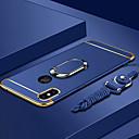 olcso iPhone tokok-Case Kompatibilitás Apple iPhone XS / iPhone XS Max Galvanizálás / Tartó gyűrű / Ultra-vékeny Fekete tok Egyszínű Kemény PC mert iPhone XS / iPhone XR / iPhone XS Max