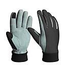 preiswerte Körperschmuck-Fahrradhandschuhe Touchscreen warm halten Windundurchlässig Sonnenschutz Handschuhe für den Touchscreen Sporthandschuhe Winter Leder Bergradfahren Dunkelgrau für Erwachsene Skifahren
