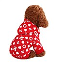 cheap Dog Clothing & Accessories-Dogs Sweatshirt Dog Clothes Print Fruit Love Red Blue Cotton Costume For Corgi Beagle Bulldog Spring Fall Male Female Casual / Daily Simple Style