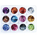 cheap Makeup & Nail Care-1 pcs Glossy / Mini Style / Relaxed Fit Plastics Sequins For Finger Nail Romantic Series Cartoon Series nail art Manicure Pedicure Christmas / Special Occasion / Halloween Stylish / Trendy