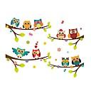 رخيصةأون واقيات شاشات أخرى-لواصق حائط مزخرفة - ملصقات الحائط الحيوان حيوانات / الأزهار / النباتية غرفة الطعام / غرفة الأطفال