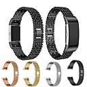 ieftine Becuri De Mașină LED-Uita-Band pentru Fitbit Charge 2 Fitbit Design Bijuterie Oţel / Oțel inoxidabil Curea de Încheietură