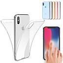رخيصةأون حامل سيارة-غطاء من أجل Apple iPhone XS / iPhone XR / iPhone XS Max ضد الصدمات / نحيف جداً / شفاف غطاء كامل للجسم لون سادة ناعم TPU