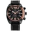 cheap Men's Watches-SKONE Men's Sport Watch Japanese Japanese Quartz Stainless Steel Genuine Leather Black / White / Silver 30 m Calendar / date / day Casual Watch Analog Fashion Colorful - Black Golden Black / Rose Gold