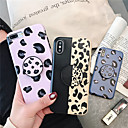 abordables Coques d'iPhone-Coque Pour Apple iPhone XR / iPhone XS Max Avec Support / Ultrafine Coque Motif Léopard Flexible TPU pour iPhone XS / iPhone XR / iPhone XS Max
