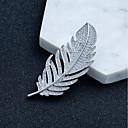 ieftine Broșe-Pentru femei Zirconiu Cubic Broșe Temă Florală Simplu Broșă Bijuterii Argintiu Pentru Logodnă Cadou Dată Antrenament Muncă