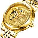 levne Pánské-Pánské mechanické hodinky Automatické natahování Zlatá 30 m Voděodolné Svítící Analogové Luxus Módní - Červená Modrá