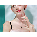 halpa Korvakorut-Naisten Kaulakoru S925 Sterling Hopea Musta 40+3 cm Kaulakorut Korut 1kpl Käyttötarkoitus Päivittäin mielitietty