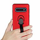 رخيصةأون Huawei أغطية / كفرات-غطاء من أجل Samsung Galaxy S9 / S9 Plus / S8 Plus حامل الخاتم غطاء خلفي لون سادة قاسي TPU / الكمبيوتر الشخصي