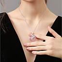 halpa Muotikaulakorut-Naisten Kaulakoru Aasialainen Kupari Pinkki 40+5 cm Kaulakorut Korut 1kpl Käyttötarkoitus Syntymäpäivä Lahja mielitietty