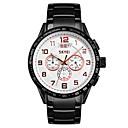 ราคาถูก นาฬิกาสำหรับผู้ชาย-SKMEI สำหรับผู้ชาย นาฬิกาแนวสปอร์ต นาฬิกาอิเล็กทรอนิกส์ (Quartz) สแตนเลส ดำ / เงิน 30 m กันน้ำ ปฏิทิน นาฬิกาจับเวลา ระบบอนาล็อก คลาสสิก แฟชั่น - สีดำและสีขาว สีทอง+สีดำ สีทอง+สีขาว