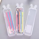 baratos Instrumentos de Desenho & Escrita-Estojo Transparentes, Plásticos Translúcido Organização 1pç