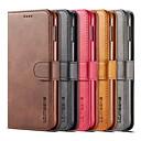 Недорогие Чехлы и кейсы для Galaxy S6-Кейс для Назначение SSamsung Galaxy S9 / S9 Plus / S8 Plus Кошелек / Бумажник для карт / со стендом Чехол Однотонный Твердый Кожа PU