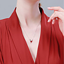 halpa Muotikaulakorut-Naisten Kaulakoru Hirvet Yksinkertainen Klassinen Muoti S925 Sterling Hopea Viini 40+3 cm Kaulakorut Korut 1kpl Käyttötarkoitus Syntymäpäivä Lahja