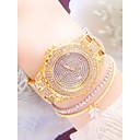 ieftine Brățări-Pentru femei Ceas de Mână ceas de aur Quartz Oțel inoxidabil Argint / Auriu Rezistent la Apă Ceas Casual Analog Casual Modă - Auriu Argintiu Auriu+Alb