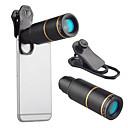 abordables Lentes para Móvil-Lente de teléfono móvil Enfoque Largo vidrio / Aleación de aluminio 10X y Más 32 mm 3 m 9 ° Lente con Soporte