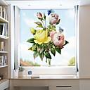 رخيصةأون الستائر-فيلم نافذة وملصقات زخرفة معاصر / 3D وردة PVC ملصق النافذة / ضد الانعكاس