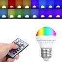 levne Bikinis-1ks 3 W LED kulaté žárovky 150 lm E26 / E27 3 LED korálky High Power LED Dálkové ovládání 85-265 V