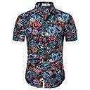economico Camicie da uomo-Camicia - Taglie UE / USA Per uomo Con stampe, Fantasia floreale / Fantasia geometrica / Pop art Cotone Arcobaleno XL