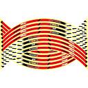 رخيصةأون بولو رجالي-16 قطع جديد 17/18/19 بوصة دراجة نارية العاكسة محور العجلة ملصقات السيارات الديكورات ملصقات عجلة على سيارة التصميم
