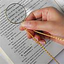ieftine Lupe-colier decorativ monocol cu 6x magneta lupă pandantiv aur placat cu lanț colier pentru bijuterii pentru femei