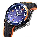 ieftine Ceasuri Bărbați-Bărbați ceas mecanic Mecanism automat Cauciuc Negru 50 m Rezistent la Apă Calendar Iluminat Analog Modă Plin de Culoare - Roșu portocaliu Albastru Roz