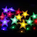Χαμηλού Κόστους Φωτολωρίδες LED-2m 20 leds γαλαζοπράσινα λευκά αστέρια φώτα σειρά λευκά ζεστά λευκά πολύχρωμο πάρτι διακοσμητικά υπέροχα 3 aa μπαταρίες powered 1pc