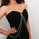 preiswerte Körperschmuck-Damen Körperschmuck 60 cm Körper-Kette / Bauchkette Weiß Einzigartiges Design Künstliche Perle Modeschmuck Für Hochzeit / Party / Verlobung Sommer