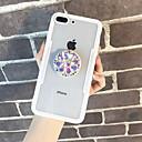 halpa iPhone kotelot-Etui Käyttötarkoitus Apple iPhone X / iPhone 6s Paljetti / Tuella Takakuori Läpinäkyvä Kova Karkaistu lasi varten iPhone X / iPhone 7 Plus / iPhone 7