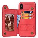 رخيصةأون أغطية أيفون-غطاء من أجل Apple iPhone XS / iPhone XR / iPhone XS Max محفظة / حامل البطاقات / مع حامل غطاء خلفي لون سادة ناعم TPU