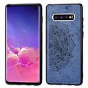 Χαμηλού Κόστους Θήκες / Καλύμματα Galaxy S Series-tok Για Samsung Galaxy Galaxy S10 Ανθεκτική σε πτώσεις / Προστασία από τη σκόνη Πίσω Κάλυμμα Τοπίο / Γεωμετρικά σχήματα Μαλακή PU δέρμα για Galaxy S10