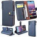 Χαμηλού Κόστους Θήκες / Καλύμματα για Huawei-tok Για Huawei P20 Pro / Huawei P30 Lite Πορτοφόλι / Θήκη καρτών / με βάση στήριξης Πλήρης Θήκη Μονόχρωμο Σκληρή γνήσιο δέρμα για Huawei P20 / Huawei P20 Pro / Huawei P20 lite