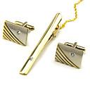 ieftine Împachetare Bijuterii & Ecrane-Μανικετόκουμπα Cravată Clipuri Oficial Broșă Bijuterii Argintiu Auriu Pentru Zilnic Muncă
