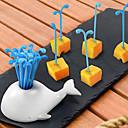 economico Comfort in viaggio-Plastica Casual Forchetta da frutta, Alta qualità 16pcs