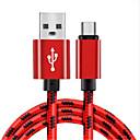 hesapli Android-Mikro USB Kablo Örgülü Naylon USB Kablo Adaptörü Uyumluluk Samsung / Huawei / LG