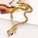 저렴한 패션 목걸이-여성용 초커 목걸이 뱀 크롬 골드 실버 45+5 cm 목걸이 보석류 1 개 제품 카니발
