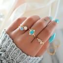 ieftine Blat Masă-Pentru femei Unghiul degetului unghiilor / Set de inele / Midi Ring Opal 4 buc Auriu Aliaj Rotund Dulce / Modă / Plin de Culoare Petrecere / Cadou Costum de bijuterii