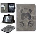 رخيصةأون أغطية Kindle-غطاء من أجل Amazon Kindle PaperWhite 4 حامل البطاقات غطاء كامل للجسم لون سادة / باندا ناعم جلد PU
