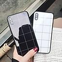 رخيصةأون أغطية أيفون-غطاء من أجل Apple iPhone XS / iPhone XR / iPhone XS Max مرآة / نموذج غطاء خلفي نموذج هندسي قاسي زجاج مقوى