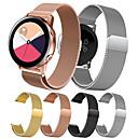 baratos Pulseiras para Samsung-Pulseiras de Relógio para Gear S2 / Samsung Galaxy Watch 42 / Samsung Galaxy Active Samsung Galaxy Pulseira Estilo Milanês Aço Inoxidável Tira de Pulso