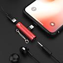 billige iPhone-kabler og -adaptere-2 i 1 hodetelefoner musikkladning belysning 3,5 mm lydadapterkabel for iPhone