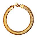 ieftine Inele-Bărbați Pentru femei Brățări cu Lanț & Legături Link / Lanț Șarpe Modă Oțel titan Bijuterii brățară Auriu / Negru / Argintiu Pentru Absolvire Cadou Zilnic Școală