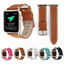 abordables Correas para Apple Watch-Correa de reloj de pulsera de cuero genuino para reloj de Apple serie 4/3/2/1 hebilla clásica iwatch correa